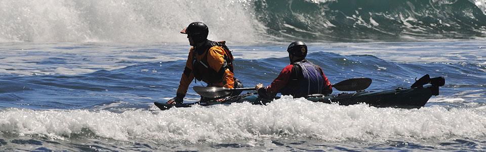 Eskape Kayak surf skills lesson