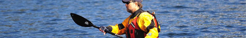 Roger Schumann paddling